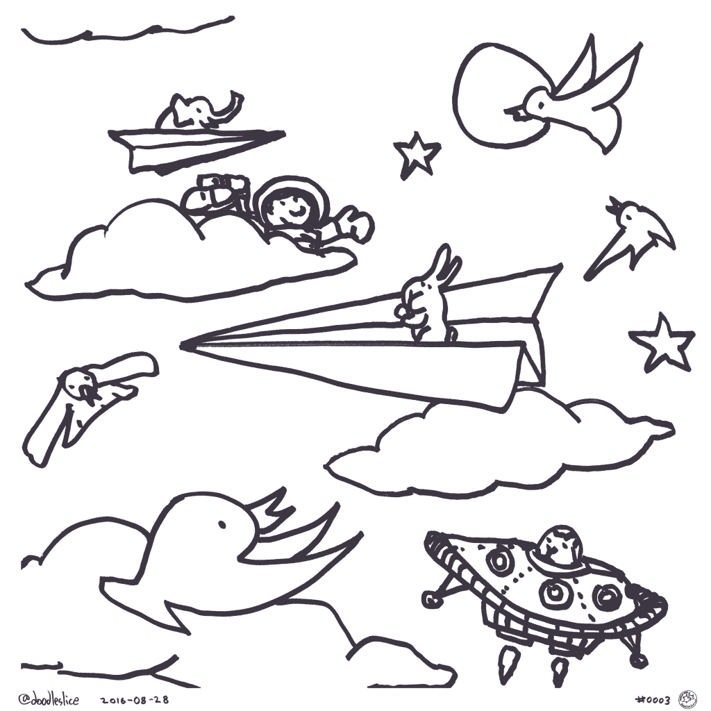Paper Flyer - Coloring Page