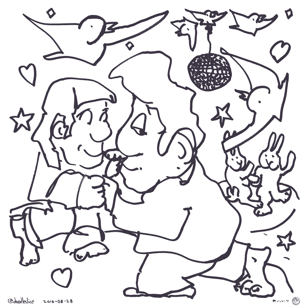 Dance Party 2016 - Coloring Page