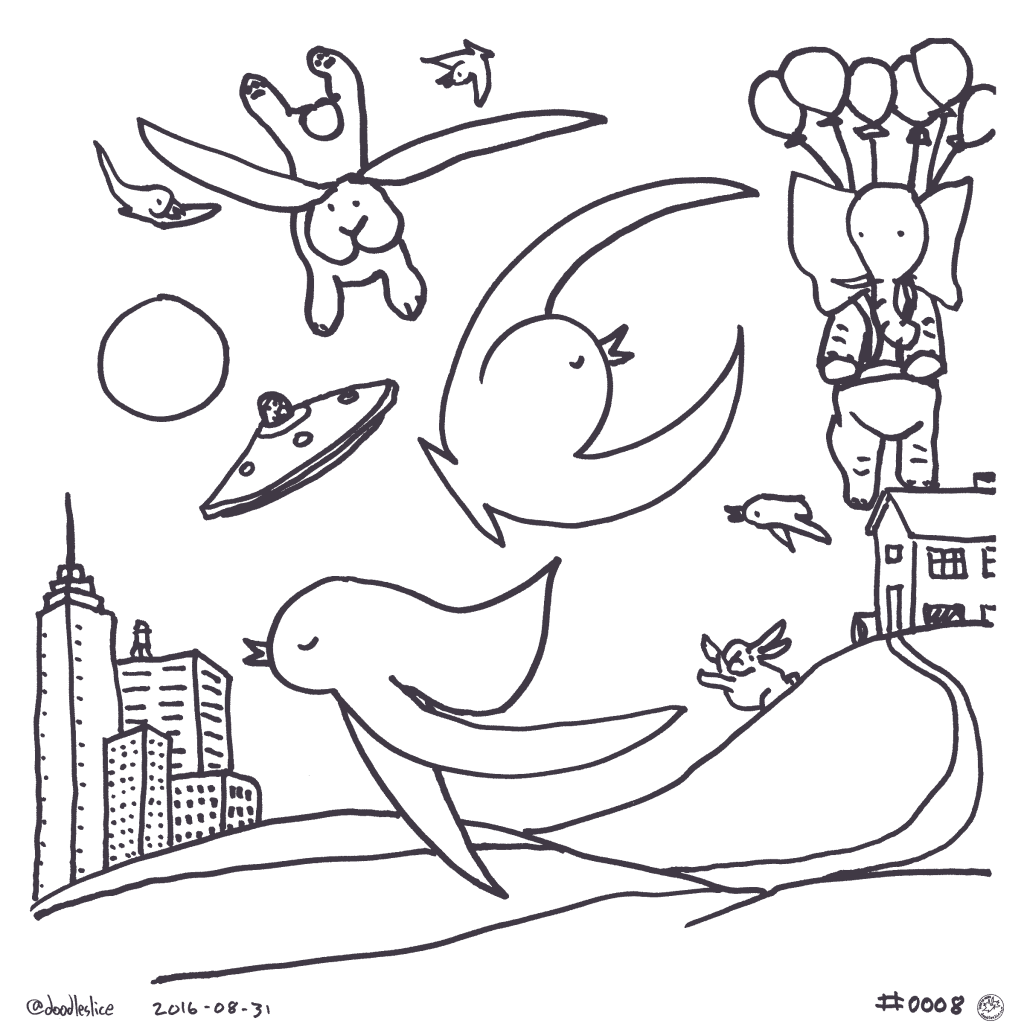Unidentified Flying Elephant - Coloring Page