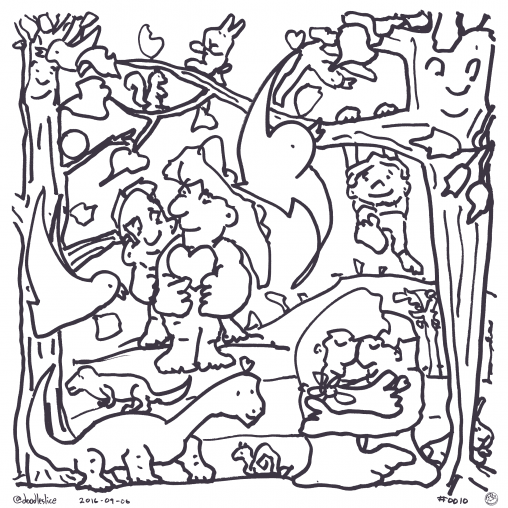 Scenes From A Park - Coloring page