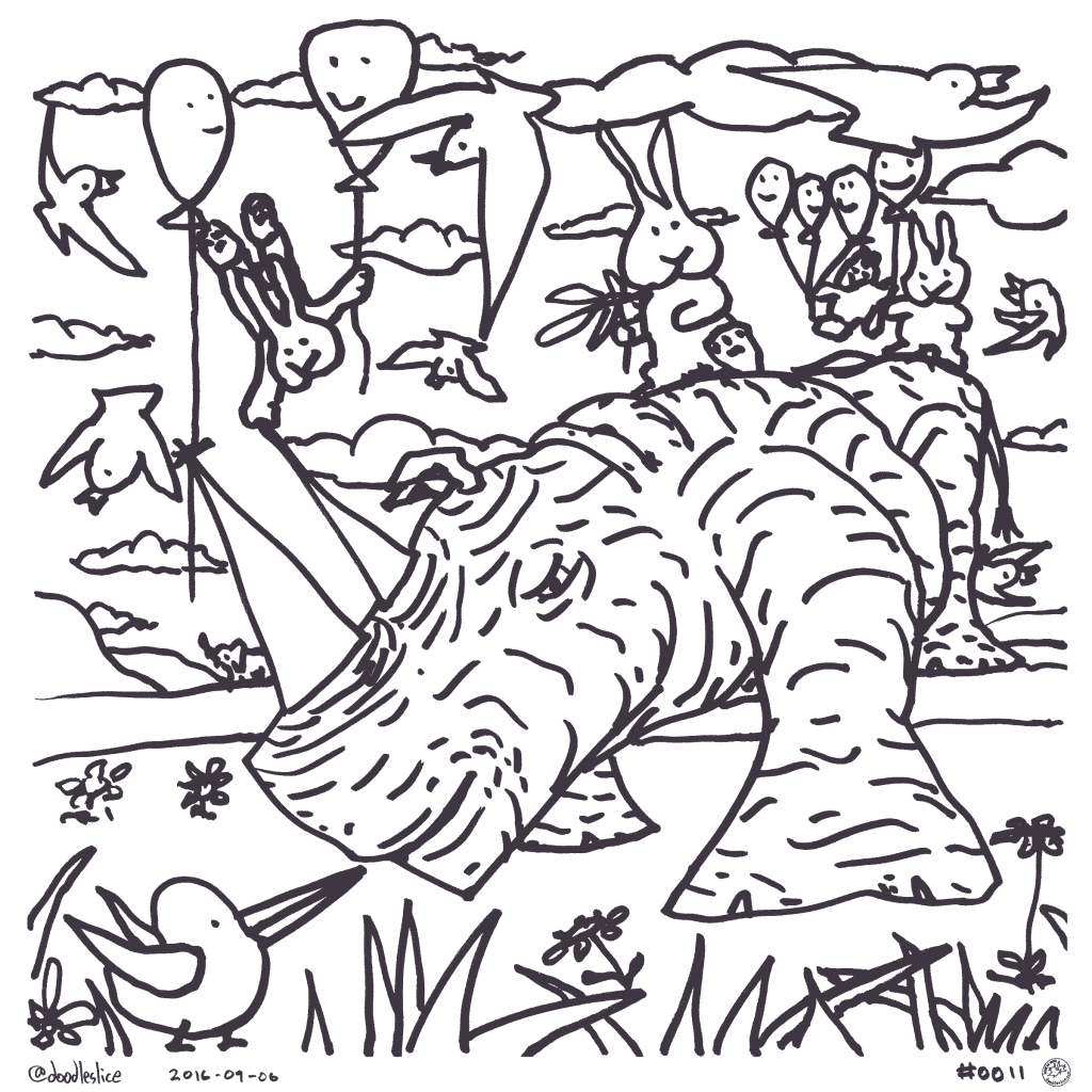 Partly Cloudy Party - Coloring Page