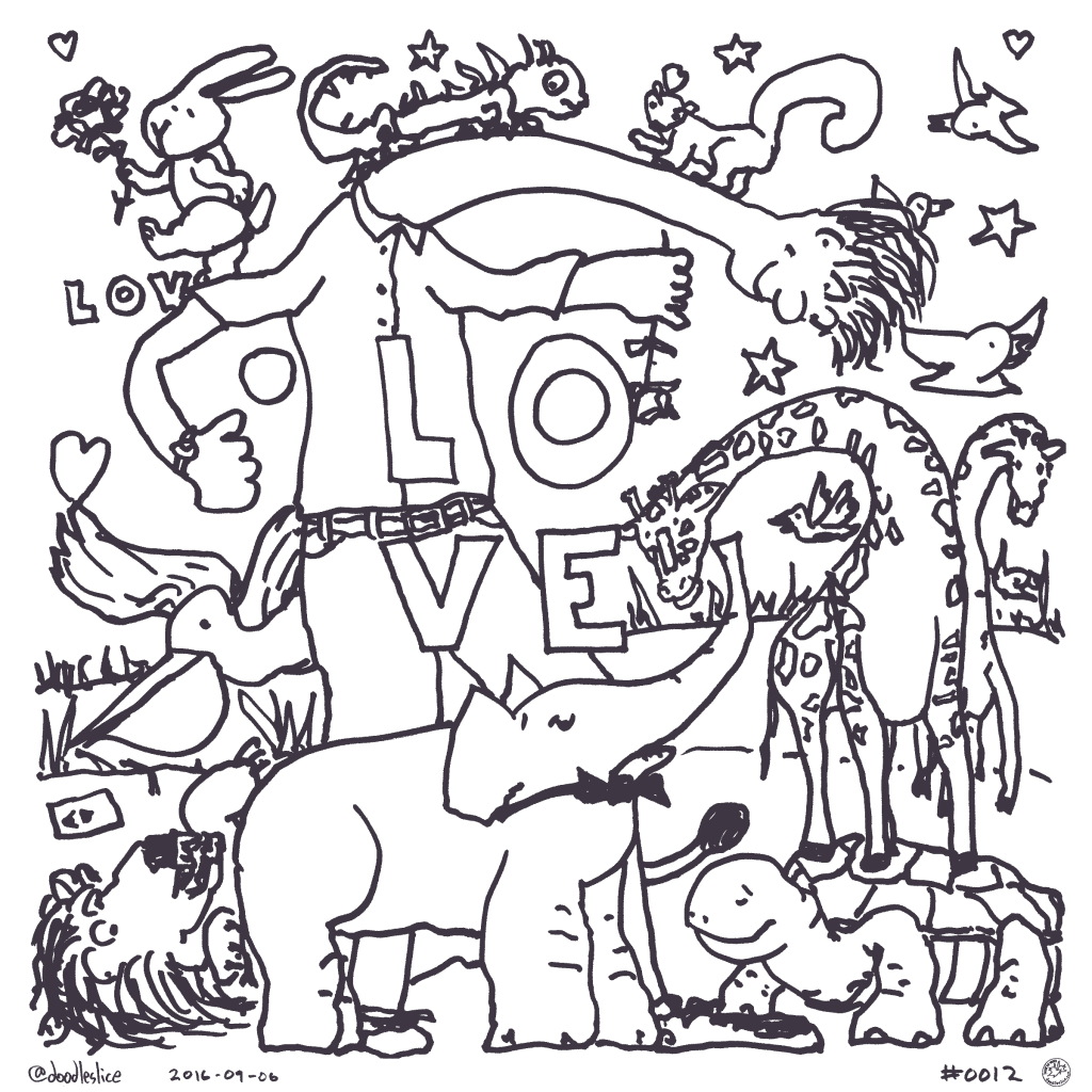 Stick Your Neck Out For Love - Coloring Page