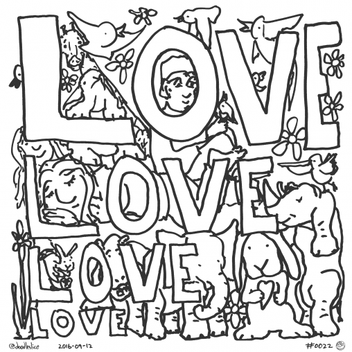 Love Grows On Love - Coloring Page