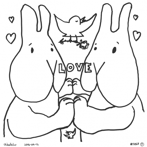 Centered on Love - Coloring Page