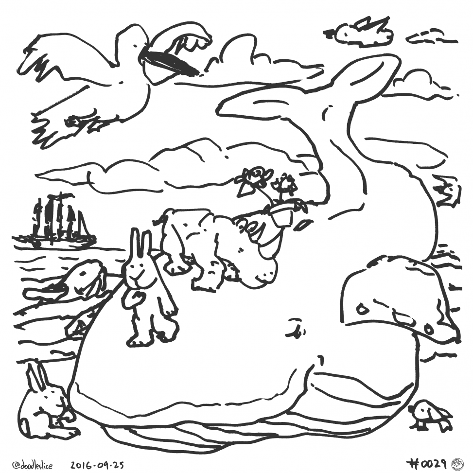 Whale Traveled - Coloring Page